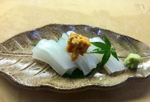 """""""季節のイカのお刺身定食 Set meal of Squid Sashimi""""の拡大写真"""